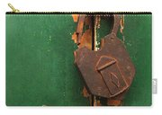 An Old Rusty Lock Carry-all Pouch
