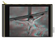 Anaglyph Black Female Jesus Carry-all Pouch