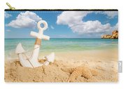 Anchor On The Beach Carry-all Pouch