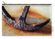 Anchored - Coastal Art By Sharon Cummings Carry-all Pouch by Sharon Cummings