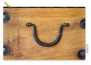 Ancient Wood Box With Handle Carry-all Pouch