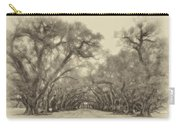 And Time Stood Still Sepia Carry-all Pouch by Steve Harrington