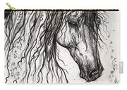 Andalusian Horse Drawing 2 Carry-all Pouch