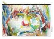 Andy Warhol Watercolor Portrait Carry-all Pouch
