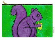 Andy's Squirrel Purple Carry-all Pouch