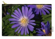 Anemone Blanda Blue Carry-all Pouch
