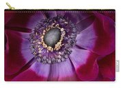 Anemone Coronaria  Macro Carry-all Pouch