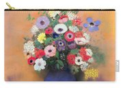 Anemones And Lilac In A Blue Vase Carry-all Pouch