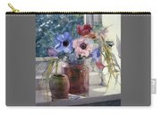 Anemones Carry-all Pouch by Julia Rowntree