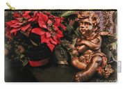 Angel And Poinsettia Carry-all Pouch