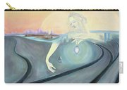 Angel Bringing Light To Meditating Woman At The Train Tracks Carry-all Pouch
