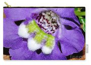 Angel Face Blue - With Extra Petals And 3 Stamen Carry-all Pouch