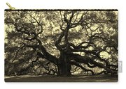 Angel Oak Tree Sepia Carry-all Pouch