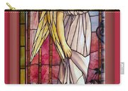Angel Stained Glass Window Carry-all Pouch by Thomas Woolworth