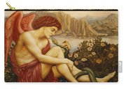 Angel With Serpent Carry-all Pouch by Evelyn De Morgan