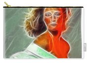Angela Leather Red Fractal Carry-all Pouch