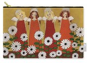 Angels And Dasies Carry-all Pouch