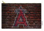 Angels Baseball Graffiti On Brick  Carry-all Pouch by Movie Poster Prints