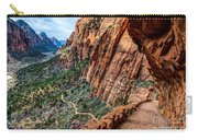 Angels Landing Trail From High Above Zion Canyon Floor Carry-all Pouch