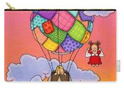 Angels With Hot Air Balloon Carry-all Pouch by Sarah Batalka
