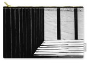 Angles And Shadows - Black And White Carry-all Pouch