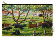 Angus Cows Under The Cool Shade By Prankearts Carry-all Pouch