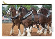 Anheuser Busch Budweiser Clydesdale Horses In Harness Usa Rodeo Carry-all Pouch