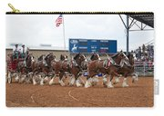 Anheuser Busch Clydesdales Pulling A Beer Wagon Usa Rodeo Carry-all Pouch