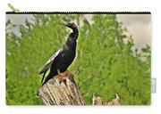 Anhinga Bird On Stump Carry-all Pouch