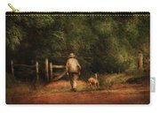 Animal - Dog - A Man And His Best Friend Carry-all Pouch