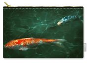Animal - Fish - Koi - Another Fish Story Carry-all Pouch by Mike Savad