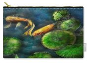 Animal - Fish - The Shy Fish  Carry-all Pouch by Mike Savad