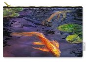 Animal - Fish - There's Something About Koi  Carry-all Pouch by Mike Savad
