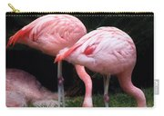 Animal - Flamingo - A Set Of Flamingoes Carry-all Pouch