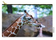 Animal - Giraffe - Sticking Out The Tounge Carry-all Pouch