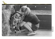 Animal - Goat - A Girl And Her Goat Carry-all Pouch by Mike Savad