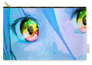 Anime Girl Eyes Blue Carry-all Pouch