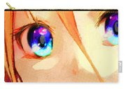 Anime Girl Eyes Gold Carry-all Pouch
