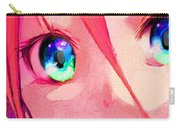 Anime Girl Eyes Red Carry-all Pouch