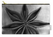 Anise Star Single Text Distressed Black And Wite Carry-all Pouch