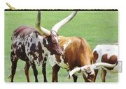 Ankole And Texas Longhorn Cattle Carry-all Pouch