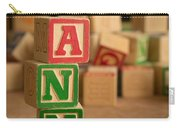 Ann - Alphabet Blocks Carry-all Pouch