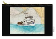 Ann Kathleen Crab Fishing Boat Nautical Chart Map Art Carry-all Pouch