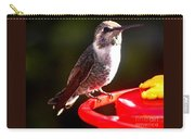 Anna's Hummingbird On Perch Carry-all Pouch