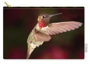 Anna's Hummingbird And The Roses Carry-all Pouch