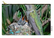 Annas Hummingbird With Young Carry-all Pouch