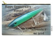 Anniversary Greeting Card - Saltwater Lure Carry-all Pouch