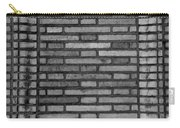 Another Brick In The Wall In Black And White Carry-all Pouch