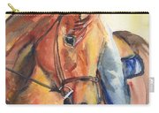 Horse In Watercolor Another Sunrise Carry-all Pouch