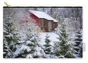 Another Wintry Barn Carry-all Pouch by Joan Carroll
